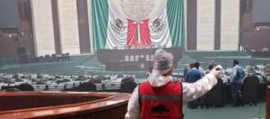CÁMARA DE DIPUTADOS / El Salón del Pleno se modifica para sesionar en sana distancia
