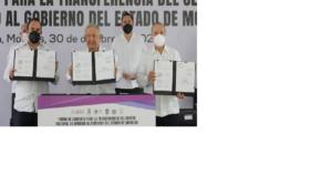 Firman convenio para / TRANSFERENCIA DEL CENTRO NACIONAL DE ARRAIGO AL GOBIERNO DE MORELOS